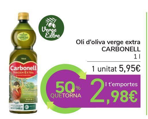 Oferta de Aceite de oliva Virgen Extra CARBONELL por 5,95€