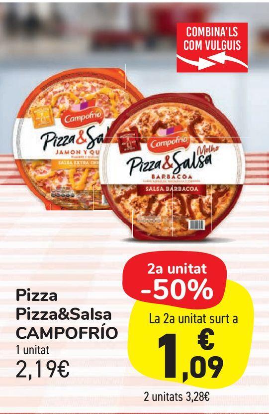 Oferta de Pizza Pizza&Salsa CAMPOFRÍO por 2,19€