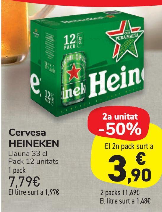 Oferta de Cerveza HEINEKEN por 7,79€
