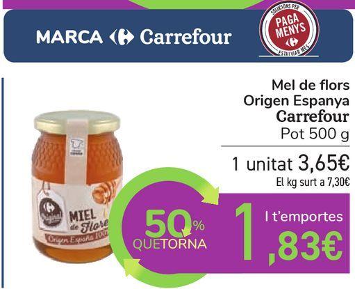 Oferta de Miel mil flores Origen España Carrefour Original Tarro por 3,65€