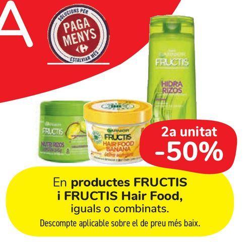 Oferta de En productos FRUCTIS y FRUCTIS Hair Food por