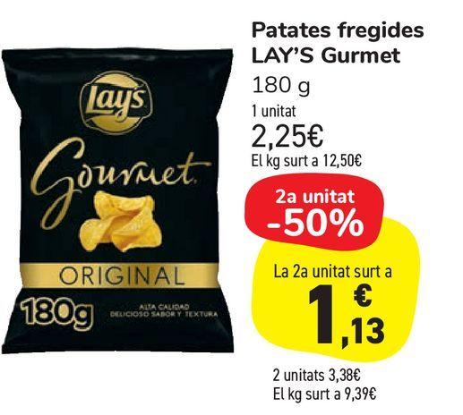 Oferta de Patatas fritas LAY'S Gourmet por 2,25€