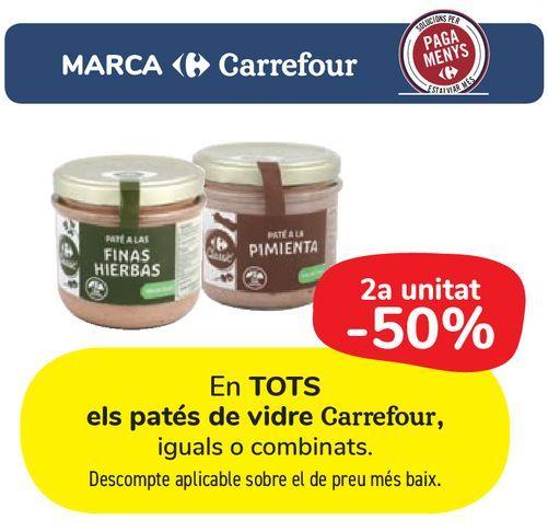 Oferta de En TODOS los patés en vidrio Carrefour por