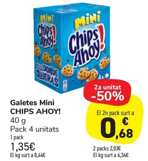 Oferta de Galletas Mini CHIPS AHOY! por 1,35€
