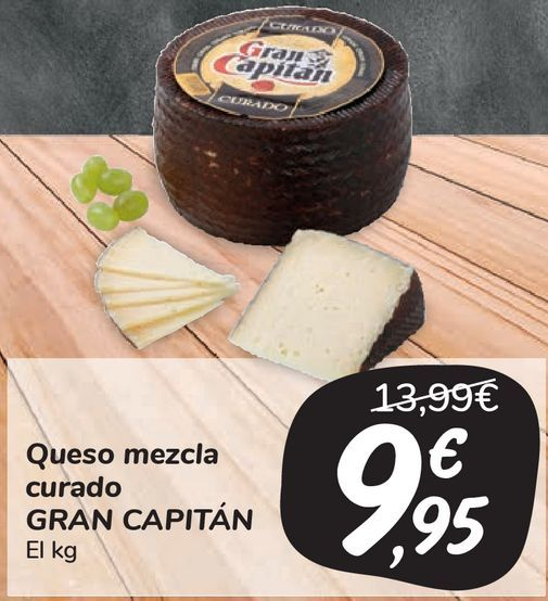 Oferta de Queso mezcla curado GRAN CAPITÁN  por 9,95€