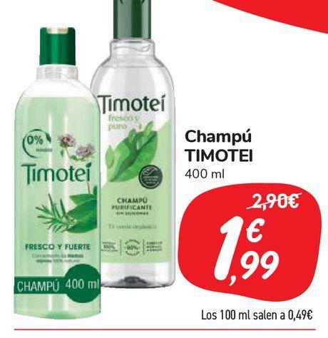 Oferta de Champú TIMOTEI por 1,99€