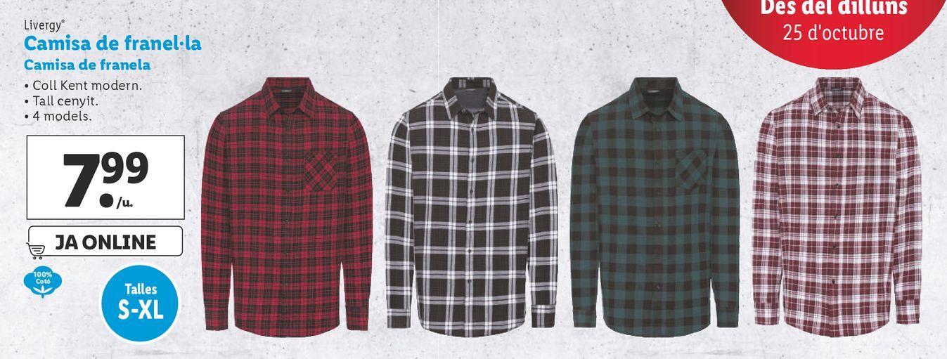 Oferta de Camisa Livergy por 7,99€