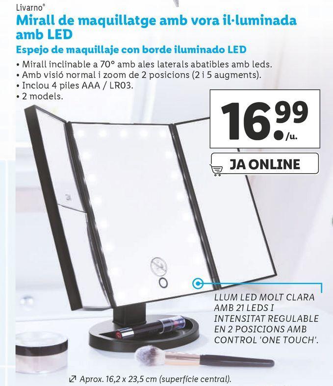 Oferta de Espejo de maquillaje por 16,99€