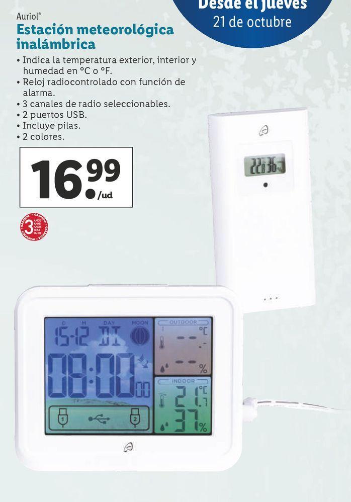 Oferta de Estación meteorológica Auriol por 16,99€