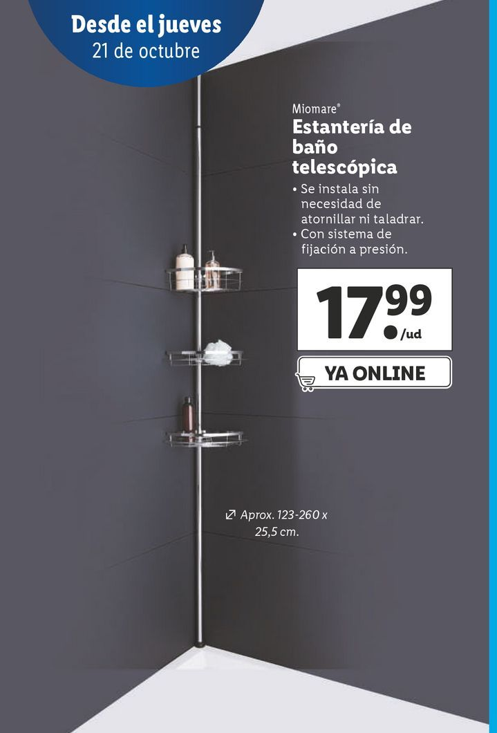 Oferta de Estantería de ducha por 17,99€