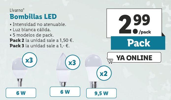 Oferta de Bombilla led Livarno por 2,99€