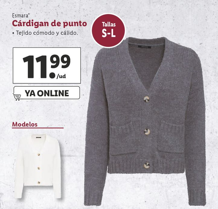 Oferta de Cárdigan esmara por 11,99€