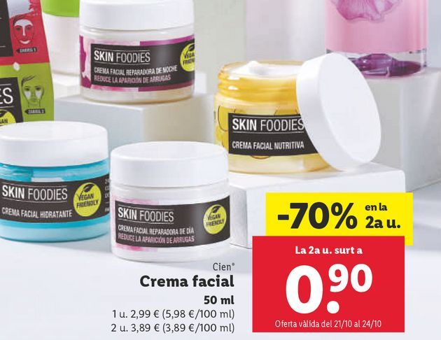 Oferta de Crema facial por 2,99€