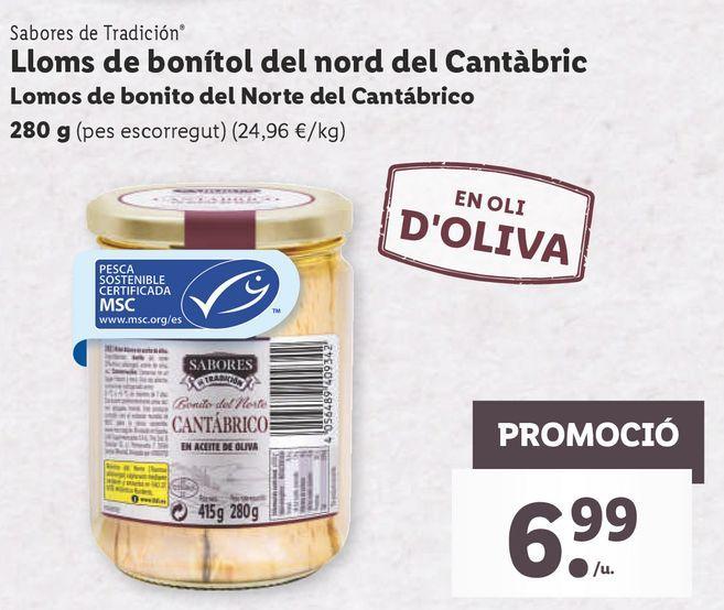 Oferta de Lomos de bonito en aceite por 6,99€