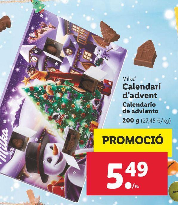 Oferta de Calendario de adviento Milka por 5,49€