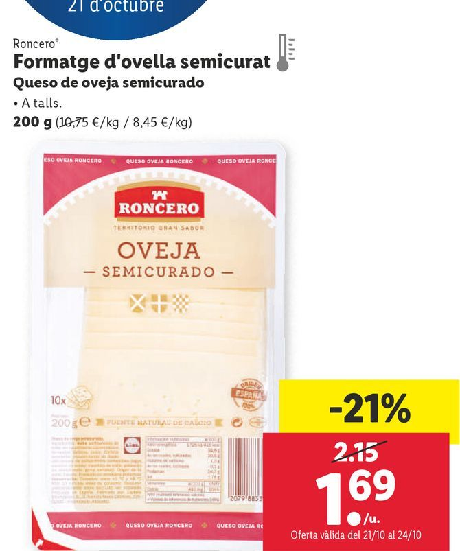 Oferta de Queso por 1,69€