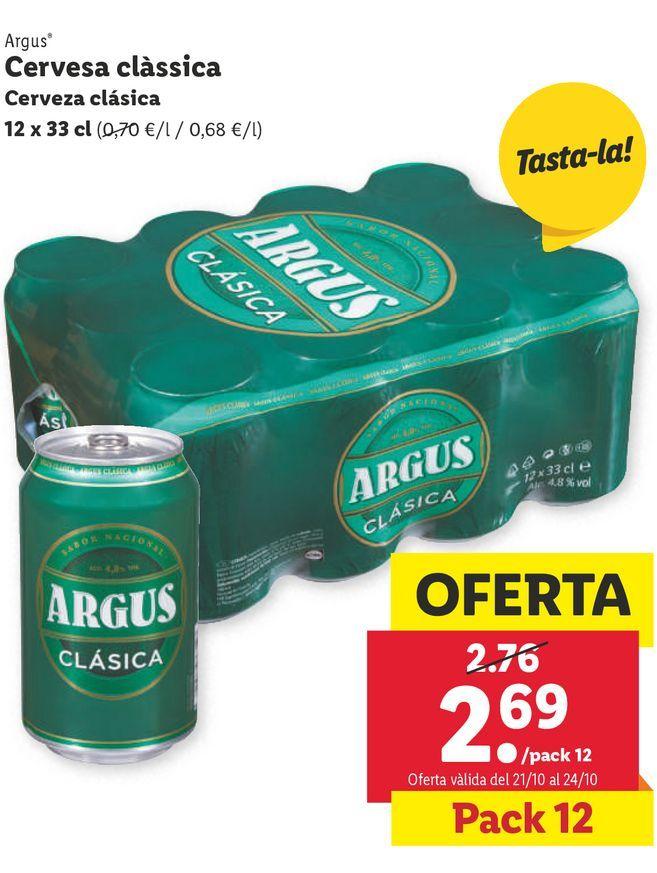 Oferta de Cerveza Argus por 2,69€