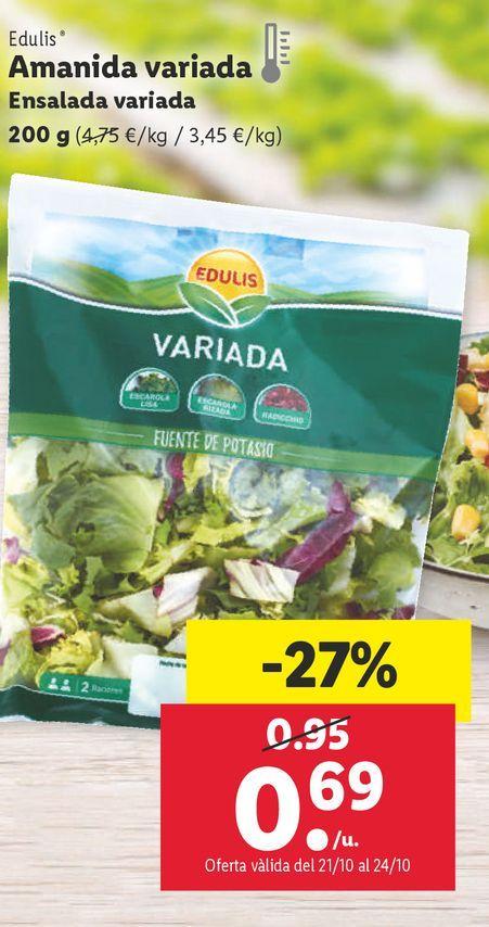 Oferta de Ensaladas por 0,69€
