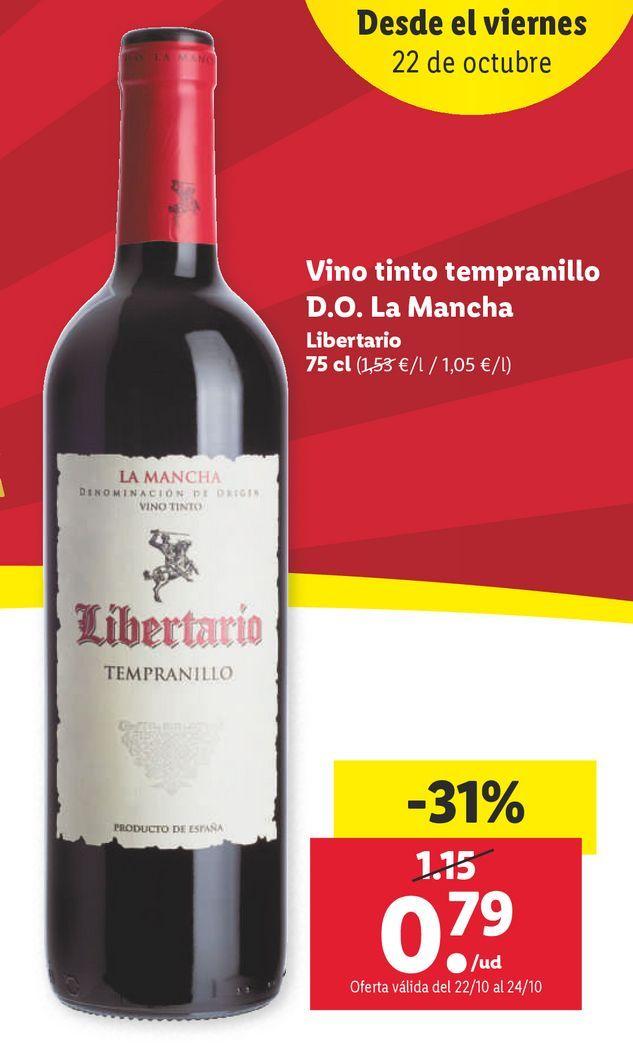 Oferta de Vino tinto por 0,79€