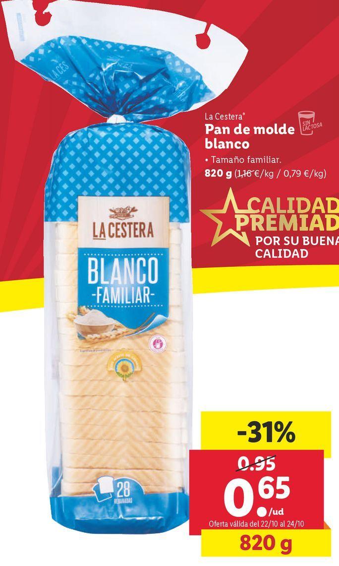 Oferta de Pan de molde La Cestera por 0,65€