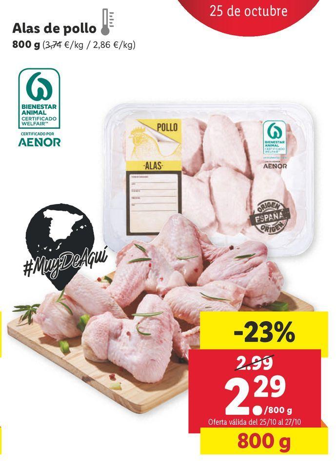 Oferta de Alas de pollo por 2,29€