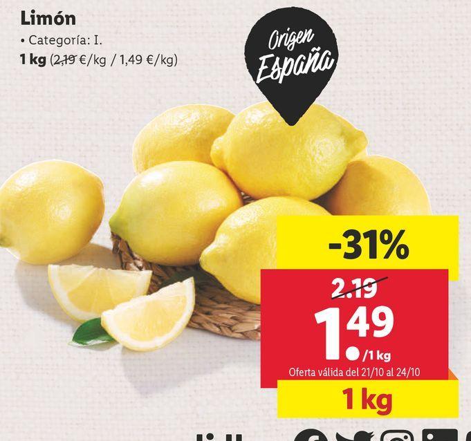 Oferta de Limones por 1,49€