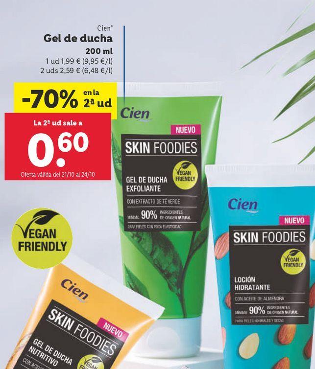 Oferta de Gel de ducha exfoliante por 1,99€