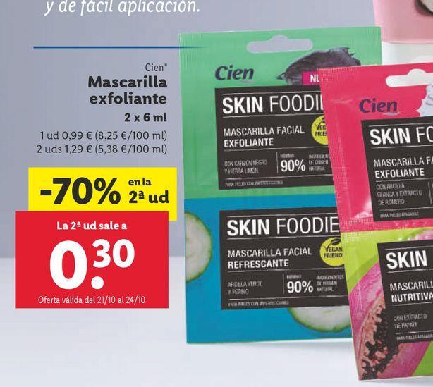 Oferta de Mascarilla exfoliante por 0,99€