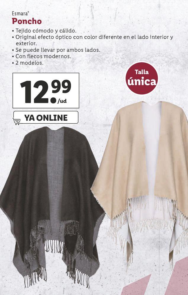 Oferta de Poncho esmara por 12,99€