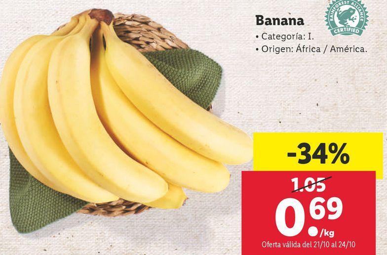 Oferta de Plátanos de Canarias por 0,69€