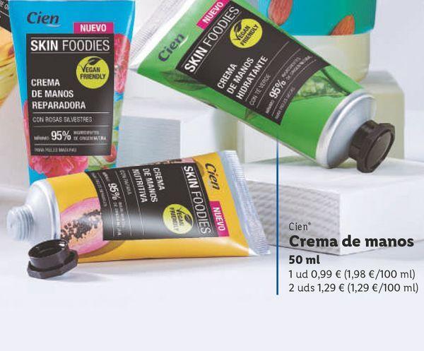 Oferta de Crema de manos por 0,99€