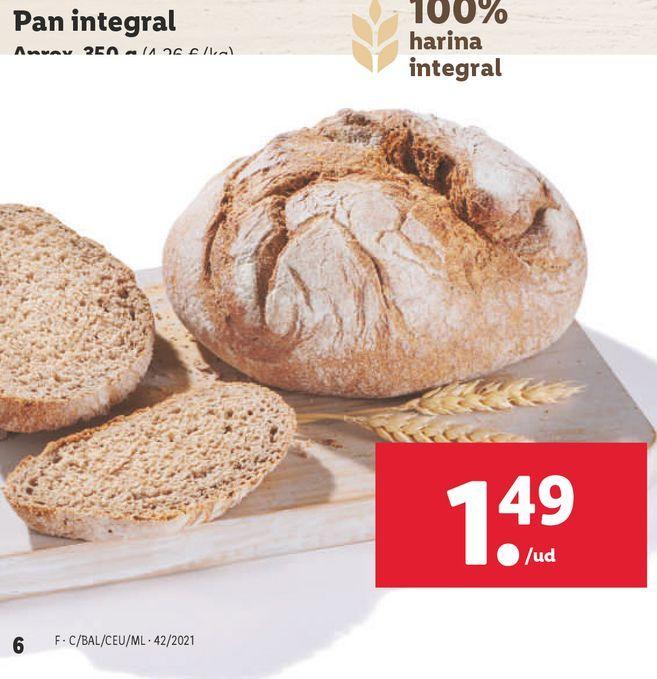 Oferta de Pan integral por 1,49€
