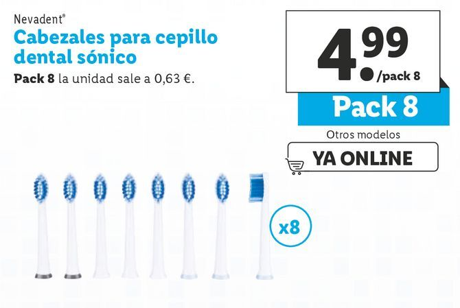 Oferta de Cabezal para cepillo dental Nevadent por 4,99€