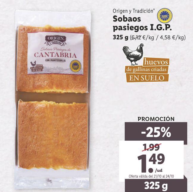 Oferta de Sobaos por 1,49€