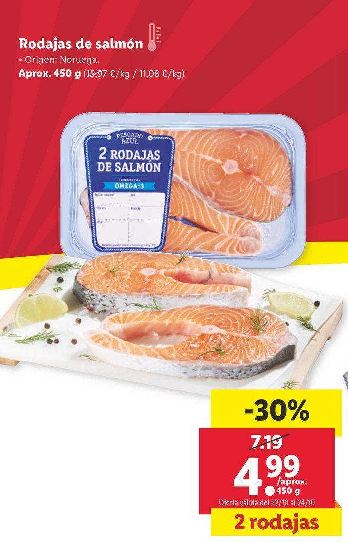 Oferta de Rodajas de salmón por 4,99€