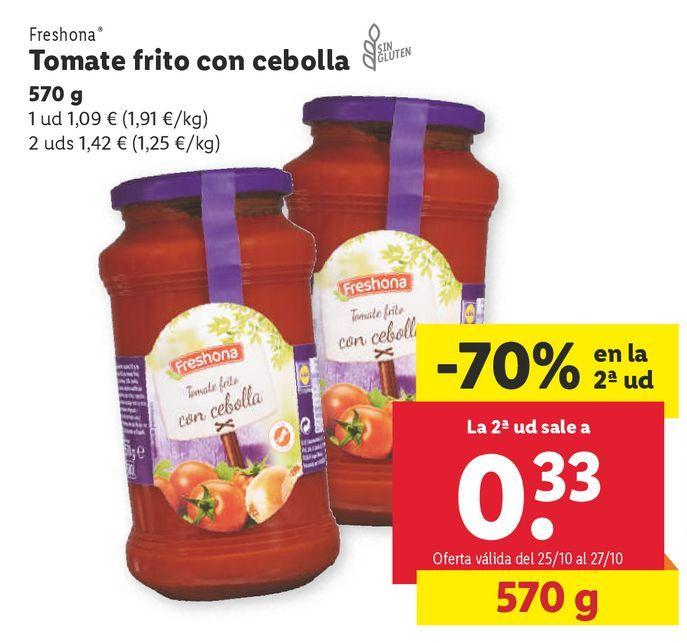 Oferta de Tomate frito Freshona por 1,09€