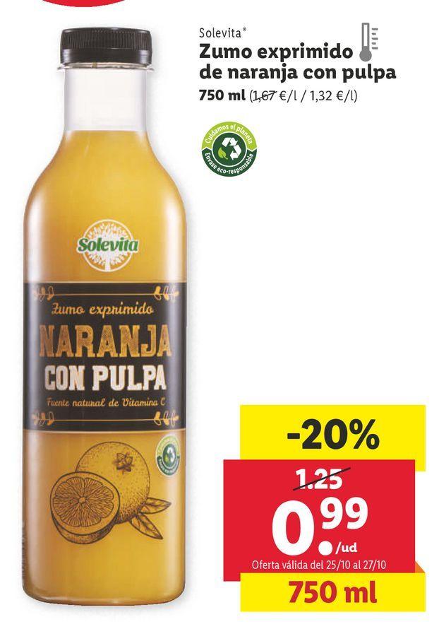 Oferta de Zumo de naranja solevita por 0,99€
