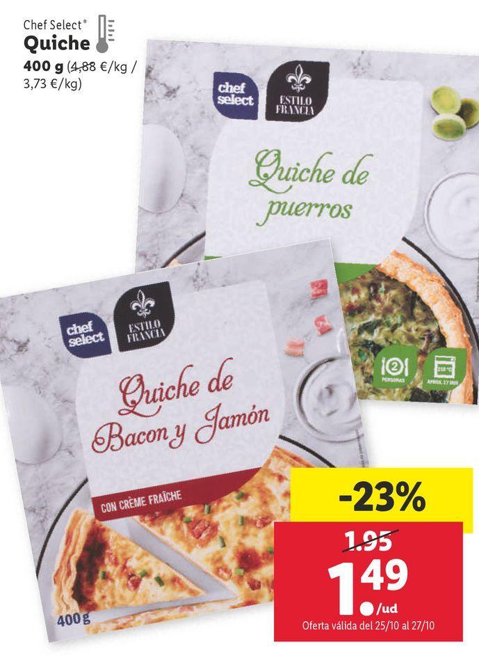 Oferta de Quiche chef select por 1,49€