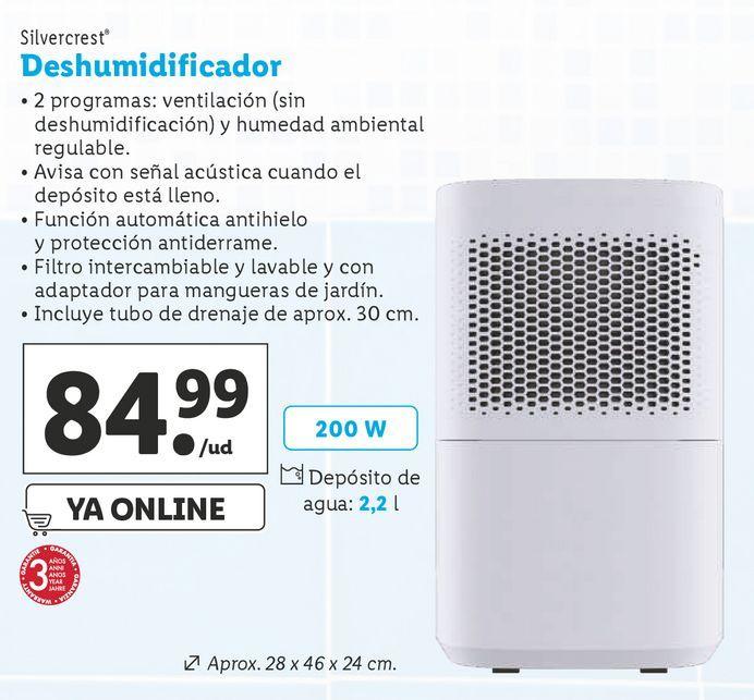 Oferta de Deshumidificador SilverCrest por 84,99€