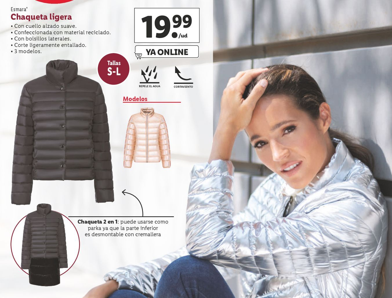 Oferta de Chaqueta mujer esmara por 19,99€