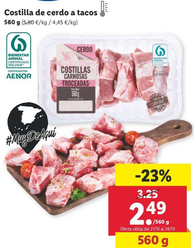 Oferta de Costillas por 2,49€