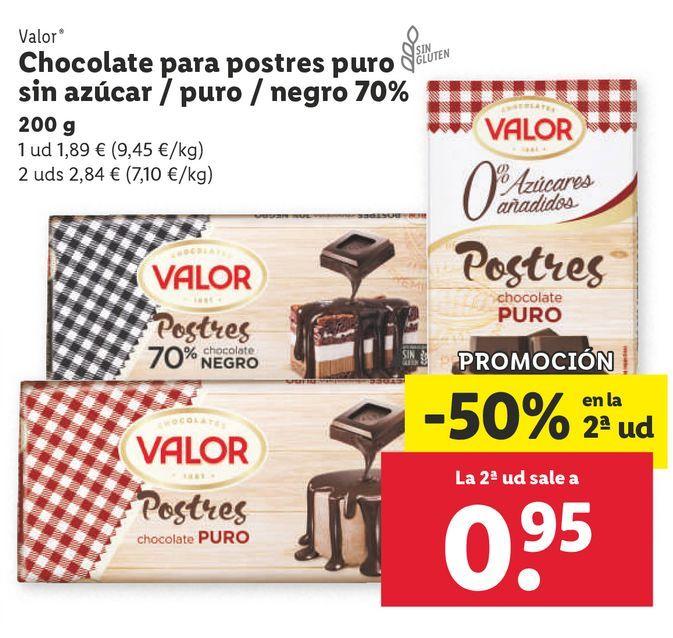 Oferta de Chocolate Valor por 1,89€