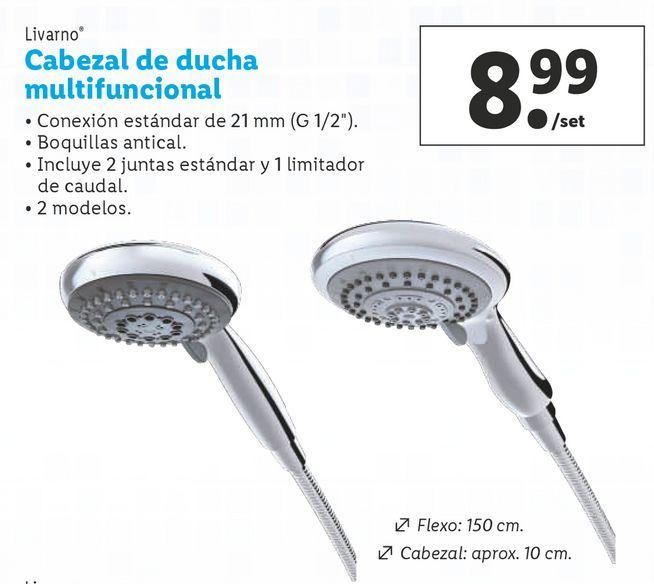Oferta de Cabezal de ducha por 8,99€