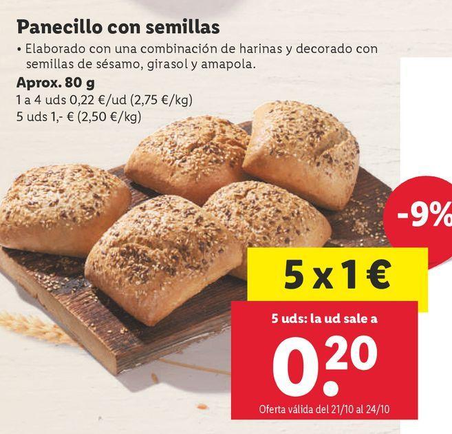 Oferta de Panecillos por 0,22€