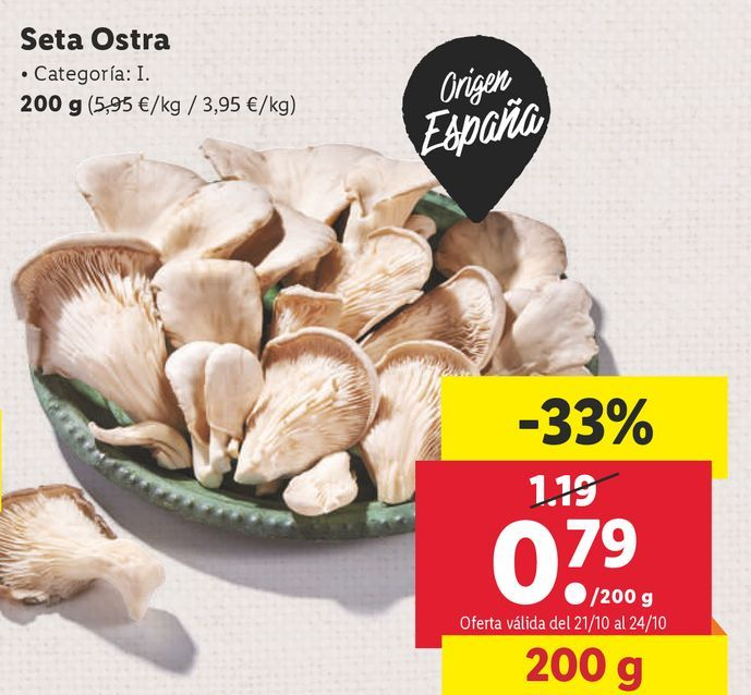Oferta de Setas por 0,79€