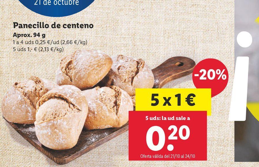 Oferta de Panecillos por 0,25€
