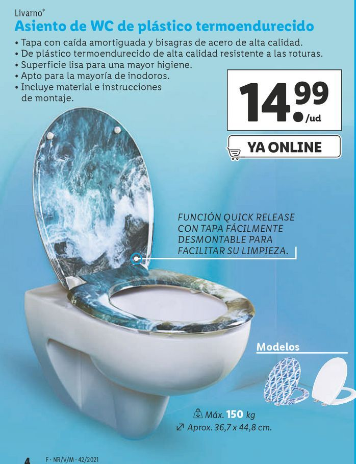 Oferta de Asiento de wc por 14,99€