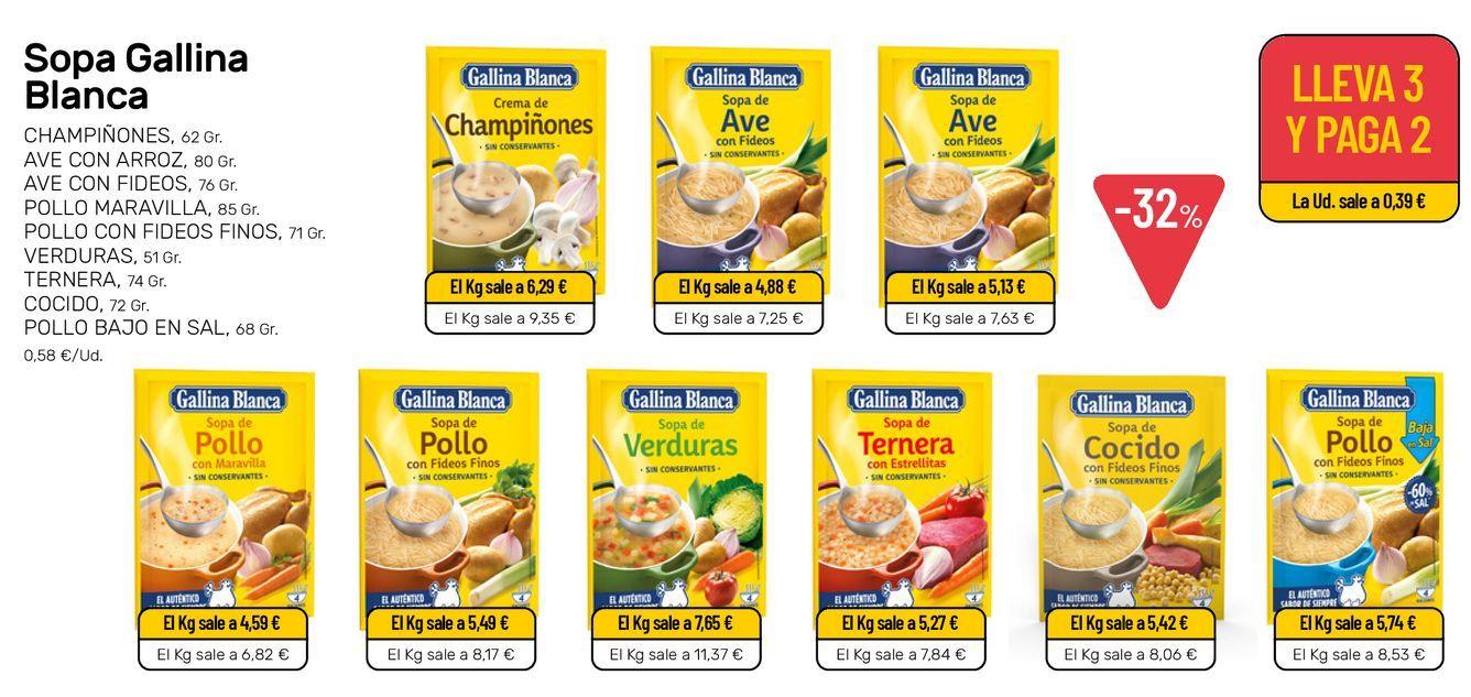 Oferta de Sopa Gallina Blanca por 0,58€