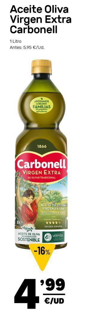 Oferta de Aceite de oliva virgen extra Carbonell por 4,99€