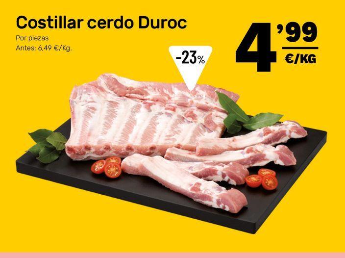 Oferta de Costillas de cerdo por 4,99€